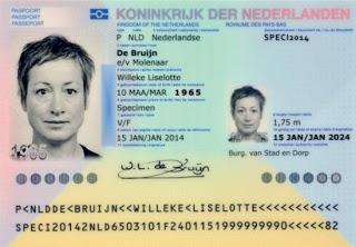 Voorbeeld paspoort